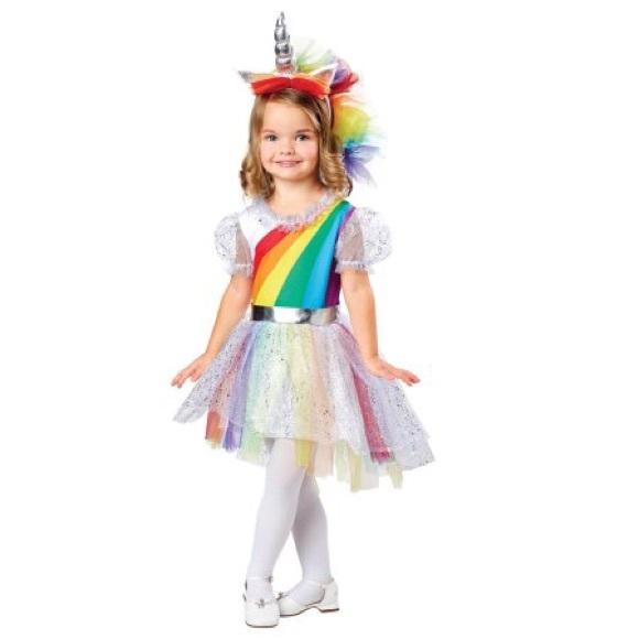 Rainbow Unicorn Toddler Girls Costume Size 2T New NWT